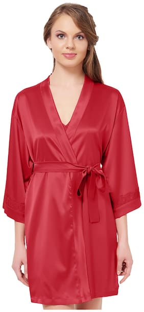 Amante Red Wrap Gown & Nighty with Robe