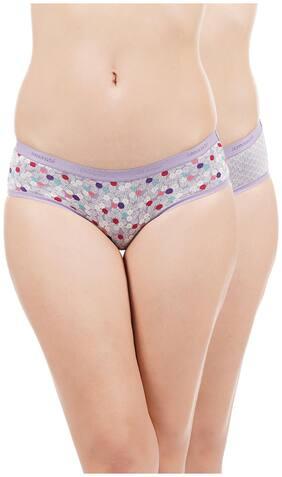 amante Pack Of 2 Printed Low waist Bikini - Purple