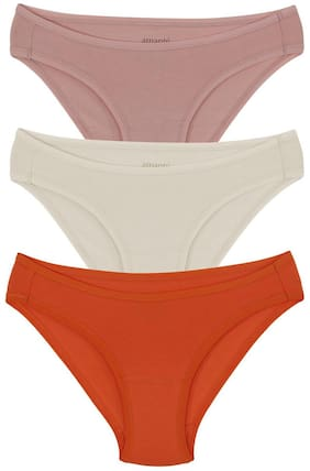 amante Pack Of 3 Solid Low waist Bikini - Assorted