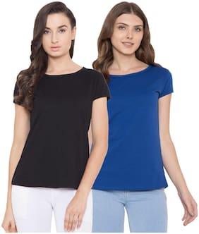 Women Half Sleeves T Shirt ,Pack Of 2