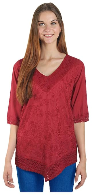 Top Fit American Women Elm Maroon for Regular lWq9i2q