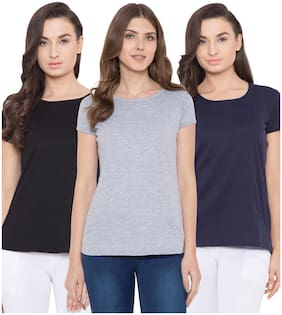 Women Half Sleeves T Shirt ,Pack Of 3