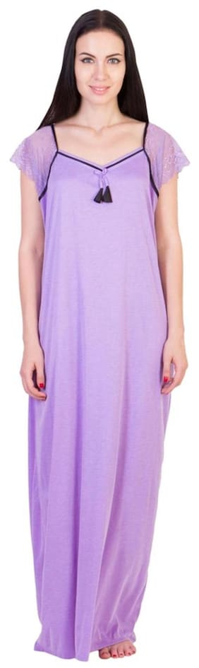 American-Elm Women s Stylish Purple Cotton Gown 2fcc5bb59
