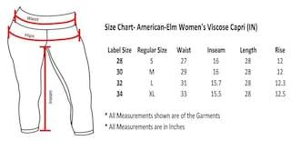 Capri pack Fourth Three of Viscose 2 Women's Cotton American Elm FY4wSSU
