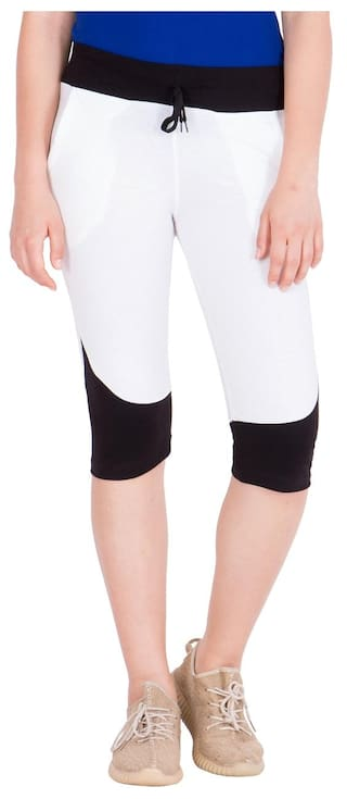 of Elm Women's American Pack 2 Cotton White;Black Capris E8pPxwqx