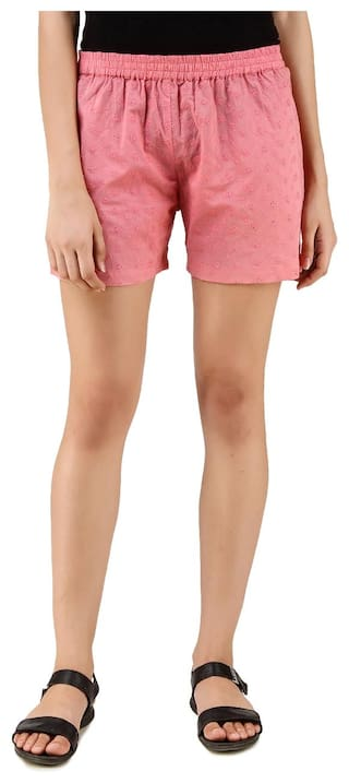 American-Elm Floral Print Regular Fit Shorts For Women