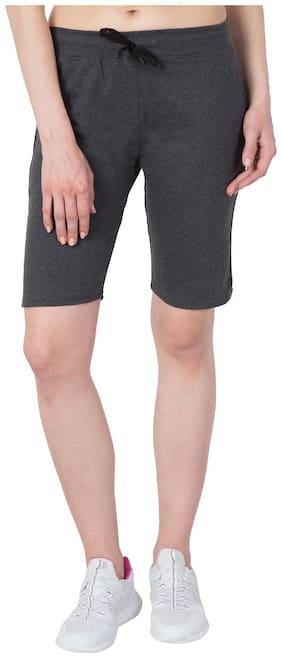 Women Polyester Slim Fit Shorts