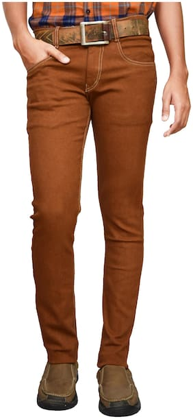 American Noti Men Mid rise Slim fit Jeans - Brown