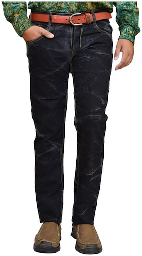 American Noti Men Black Slim Fit Jeans