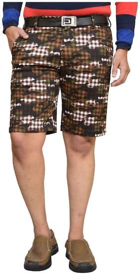 American Noti Men Black Slim Fit Regular Shorts