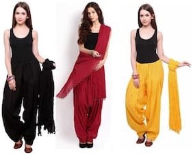 Ample Sales Cotton Patiala - Yellow & Black
