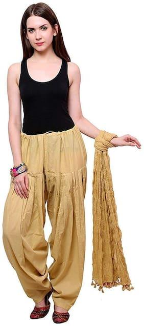 Ample Sales Cotton Patiala & Salwar - Beige
