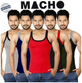 Cotton Gym Vest ,Pack Of 5
