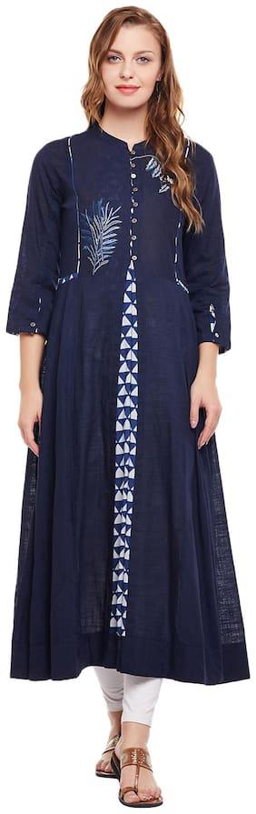 Women Embroidered A Line Kurta