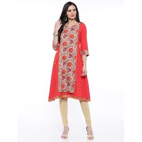 Anaisa Red Cambric Long Kurta