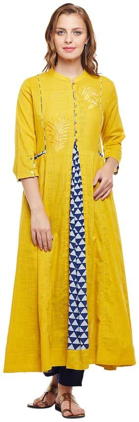 Women Embroidered Anarkali Kurti Dress