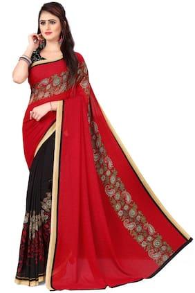 Faux Georgette Bhagalpuri Saree ,Pack Of 1