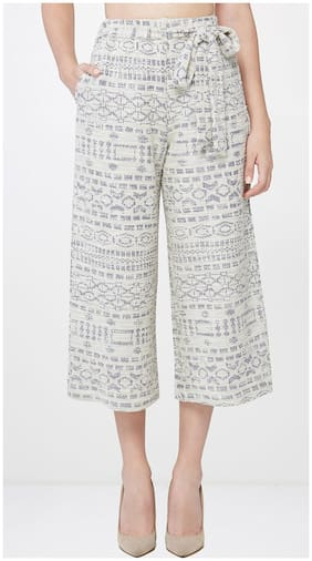 AND Jacquard Tie-up Culottes