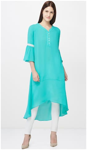 AND Sea Green High-low Tunic