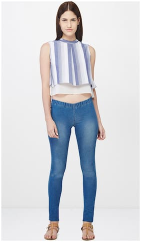 AND Yarn Dyed Layered Crop Top