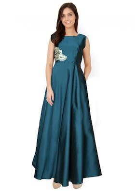 ANGEL QUEEN ETHNIC WEAR GOWN(GREEN)(LARGE)