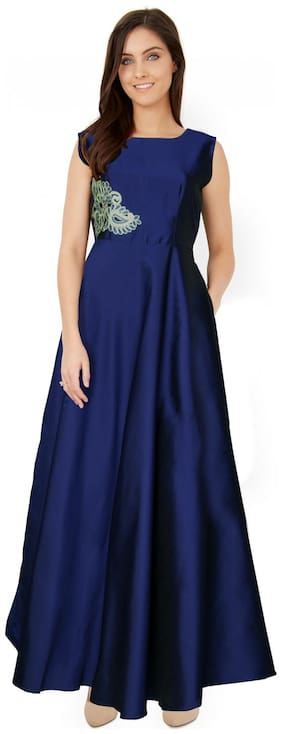 ANGEL QUEEN ETHNIC WEAR GOWN(BLUE)(SMALL)