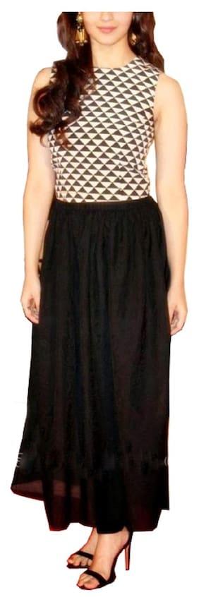 Angel Queen Crepe Printed Bodycon Dress Black
