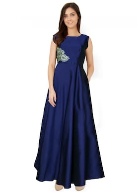 ANGEL QUEEN ETHNIC WEAR GOWN(BLUE)(EXTRA LARGE)