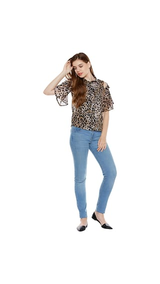 Shoulder Print Print Print Shoulder Animal Cold Shirt Shirt Animal Animal Cold dOUwSUq