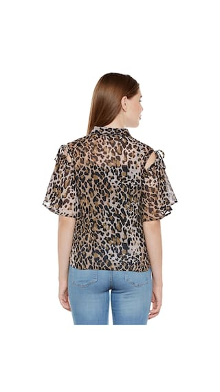 Animal Print Cold Shirt Animal Shirt Animal Print Cold Cold Cold Print Shoulder Animal Print Shoulder Shirt Shoulder gtqUnPx
