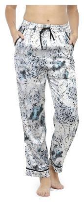 Oxolloxo Women Regular fit Mid rise Printed Regular pants - White
