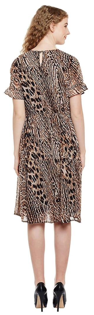 Dress Animal Animal Print Sheer Print HxPwX7wq