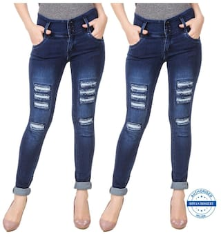 2 Navy Anixa Combo Solid Of Jeans Collection Women's BBt08