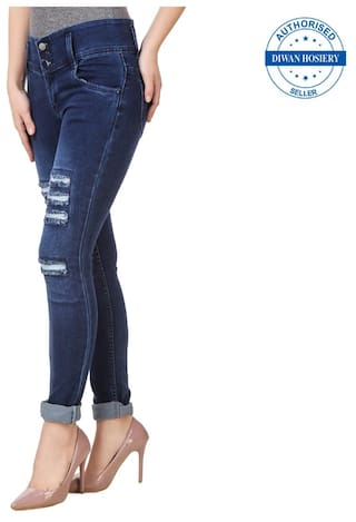 Solid 2 Jeans Of Navy Women's Combo Collection Anixa ExwBv4zqPn