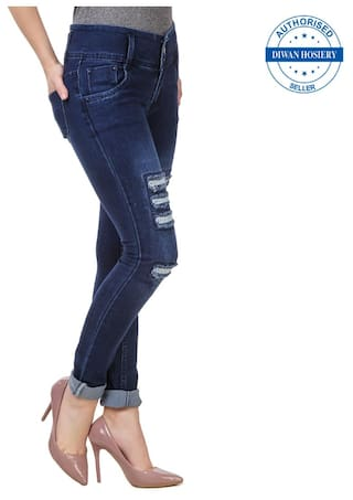 Solid Collection 2 Women's Combo Navy Jeans Anixa Of vwR1nO4Z