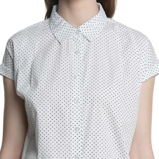 White Women's Shirt Cotton Printed Annabelle by Pantaloons 8fn6Pf4q
