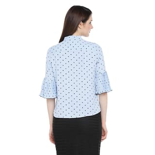 Poly Printed Pantaloons Powder by Shirt Blue moss Annabelle Women's zYBaZS