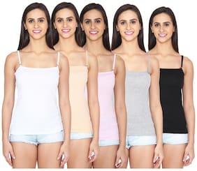 Ansh Fashion Wear Multi Color Cotton Spaghetti Pack of 5