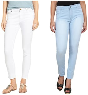 Ansh Fashion Wear Women Regular fit Mid rise Solid Jeans - Multi