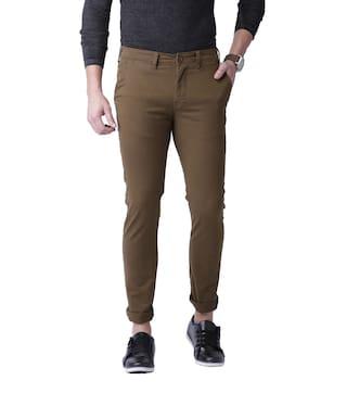 Ansh Fashion Wear Men Green Solid Regular fit Chinos