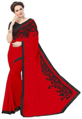 Antoniya Heavy Georgette saree For Women With Blouse Pices
