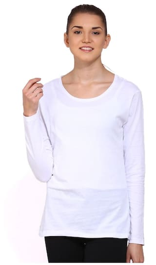 Ap'pulse Solid White T Shirt