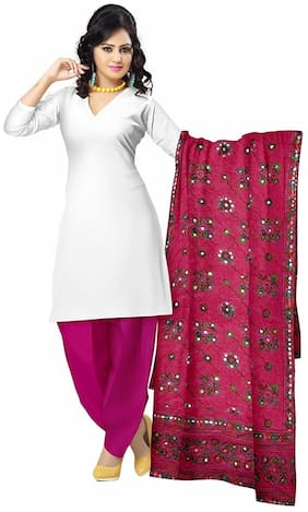 Apratim Women Ethnic Kutch Work Printed Cotton Dupatta 2.3 m
