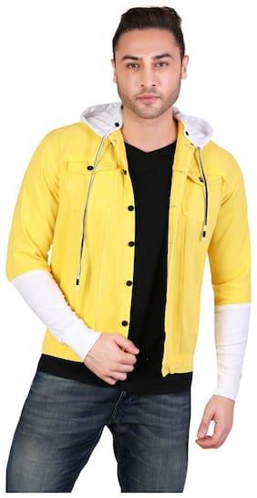 Men Cotton Long Sleeves Denim Jacket