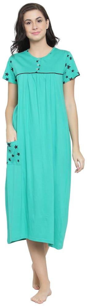 Slumber Jill Green Night Gown