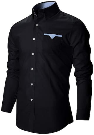ARDYN Men Slim Fit Casual shirt - Black
