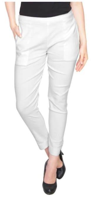 CIGARETTE ARIVA ARIVA WHITE WHITE CIGARETTE PANTS Yq8avp