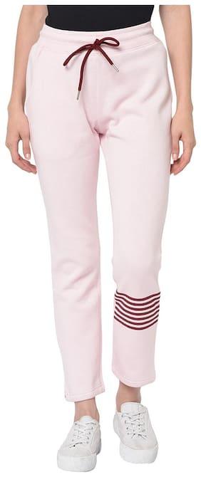 ARMISTO Women Regular fit Fleece Solid Track pants - Pink