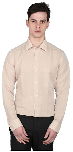 Arrow Beige Men Regular Shirts