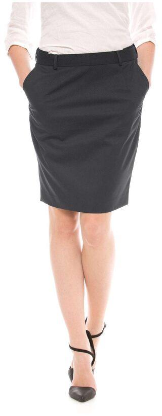 Arrow Blue Polyester Navy Pin-Dot Pencil Skirt